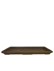 "16"" Dark Clay Waterproof Rectangular Tray"