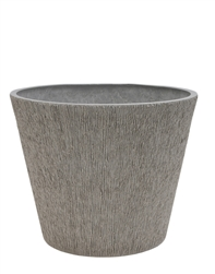 Single Round Textured Eco Pot with Drain Plug - Light Charcoal