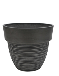 Tapered Round Eco Pot with Drain Plug -  Charcoal