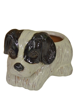 Ceramic Puppy Planter