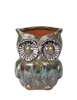 Large Owl Planter - Blue Green