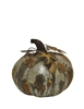 Round Grey Metal Pumpkin