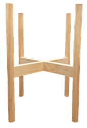 Wooden Plant Stand - Natural Wood - 4/case