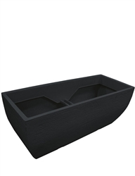 Large Rectangular Patio Box Planter - Black