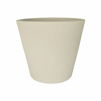Low Linea Poly Pot - Sandstone