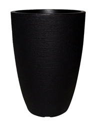 Tall Round Modern Pot - Black