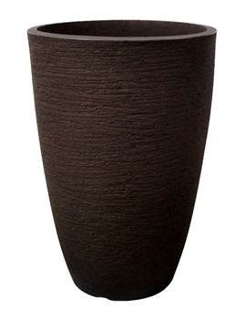 Tall Round Modern Pot - Coffee