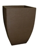 Square Modern Poly Pot - Coffee (Click for Sizes & Pricing)