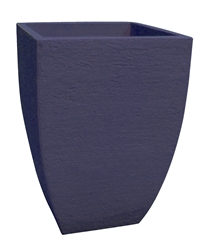 Square Modern Poly Pot - Denim Blue