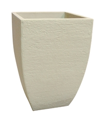 Square Modern Poly Pot - Sandstone