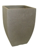 Square Modern Poly Pot - Stone (Click for Sizes & Pricing)