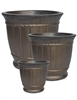S/3 Large Round Classic Pots - Rough Metal Copper