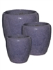 S/3 Tapered Round Pots - Falling Purple