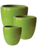 S/3 Tapered Round Pots - Jade Green