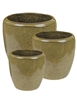 S/3 Tapered Round Pots - Mustard
