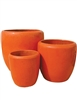 S/3 Tapered Round Pots - Orange