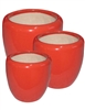 S/3 Tapered Round Pots - Royal Red