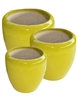 S/3 Tapered Round Pots - Yellow