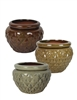 "6.5"" Diamond Self Watering Pots, 3 Assorted Colors"