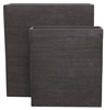 S/2 Extra Tall Rectangular Fibreclay Toughs - Blackwash Scribe