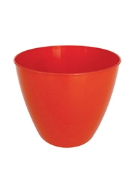 "7.25"" Berta Round Pot Cover - Orange"