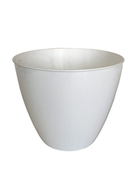 "7.25"" Berta Round Pot Cover - White"