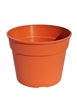 "12"" Round Line Common Planter - Terracotta"