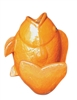 Glazed Ceramic Fish Figurine - Orange