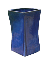 Tall Stable Square Planter - Blue Cloud