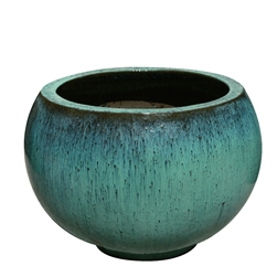 Single Extra Large Round Design Bowl - Aqua