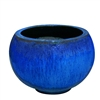 Single Extra Large Round Design Bowl - Blue Cloud