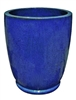 Single Tall U Planter With Foot - Blue Cloud