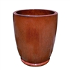 Single Tall U Planter With Foot - Copper