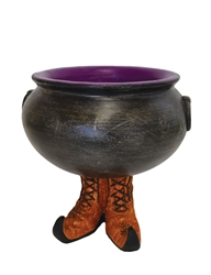 Resin Cauldron w/ Witch Boots
