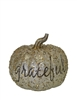 "Resin Silver Pumpkin w/ ""Grateful"""