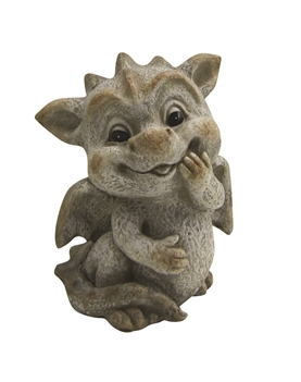 Bashful Baby Dragon Figurine Poly Resin