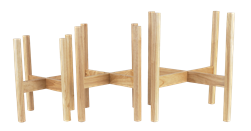 S/3 Wooden Plant Stands - Natural Wood