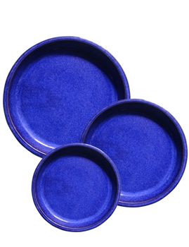 Glazed Saucer - Blue