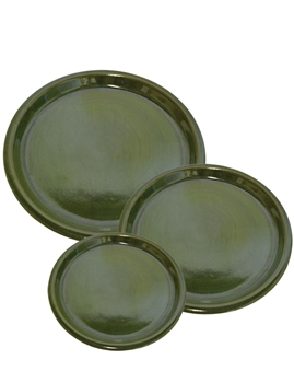 Glazed Saucer - Forest Green