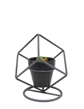 Metal Art Cube Frame, Single Pot