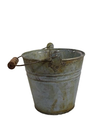 Round Verdigris Tin Pot w/ Handle & Liner (Click for Sizes and Pricing)