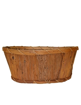 "Double 6"" Oval Rustic Pot Cover w/ Liner"