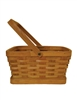 """B"" Size Rectangular Woodchip Basket w/ Handle & Liner"