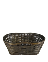 "Double 6"" Stained Peanut Basket w/ Liner"
