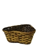 "Triple 4"" Rattan Brown Triangular Basket w/ Liner"
