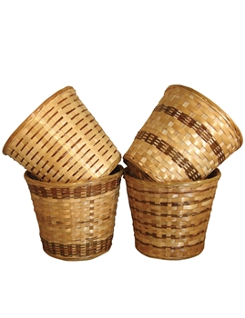 Bamboo Pot Cover in 4 Assorted Styles (Click for Sizes and Pricing)
