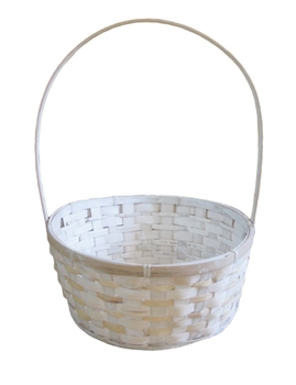 Bamboo Whitewash Basket w/ Handle & Liner (Click for Sizes and Pricing)