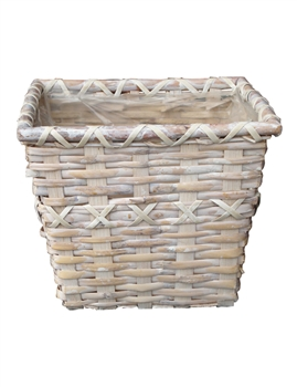 Square Whitewash Pot Cover (Click for Sizes and Pricing)