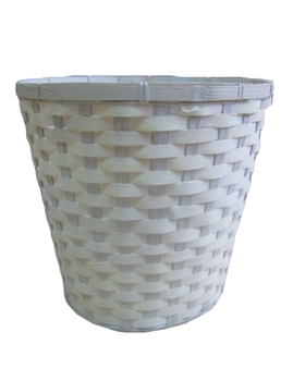 Whitewash Bamboo Pot Cover