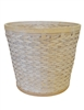 Whitewash Woodchip Pot Cover